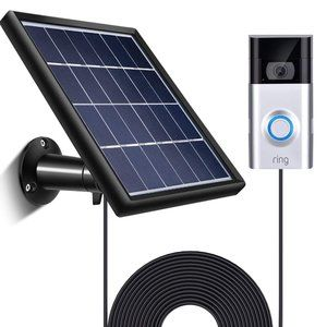 Satinior Other - SOLAR PANEL for RING DOORBELL 2 - charger & mount